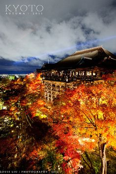 Special Light up in Autumn at Kiyomizu-dera, Kyoto, Japan
