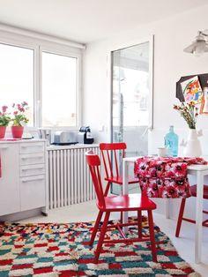 Casinha colorida: Uma casa luminosa e charmosa