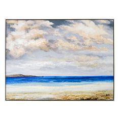 Beach Scene Framed Canvas Art Print | Kirklands