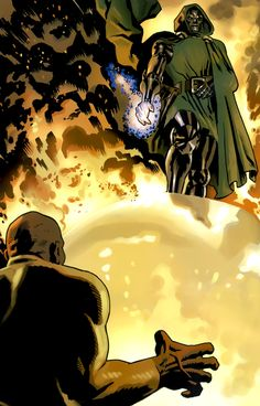 Dr Doom vs Luke Cage by Daniel Acuna