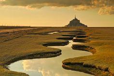"""superbnature: """" Mont saint Michel sunset I by JulienChiquet """""""