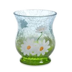 Yankee Candle® Daisy Crackle Hurricane Votive Holder - BedBathandBeyond.com  For me