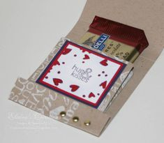Valentines Matchbook Treat Holder - inside