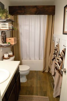 Recently, I completed my kids bathroom remodel. I have to admit it was long overdue! But hey, when the bathroom is only used by kids, it's easy to shut the door and ignore there is a problem! Check out the following pics and some tips on how I completed this re-design for less than $200!