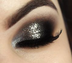 Glitter Prata / Silver Glitter Makeup