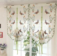 Papillon fenêtre dépistage sheer relevable voile rideau salon / café / cuisine brodé tulle(China (Mainland)) sur http://fr.aliexpress.com/