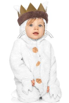 Where the Wild Things Are Baby Max Toddler Costume features ultra soft bodysuit with attached hood and crown. Your little bundle can become the king of the wild things in this adorable costume.