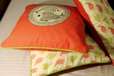 Gond art cushions tell a story and add a pop of colour!