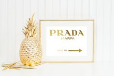 Prada Marfa sign foil wall art - Real foil - Choose any color by RileyJeanCreations on Etsy https://www.etsy.com/listing/259449949/prada-marfa-sign-foil-wall-art-real-foil