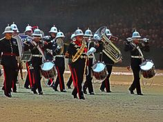 Band of HM Royal Marines at the British Military Tournament in December 2013.