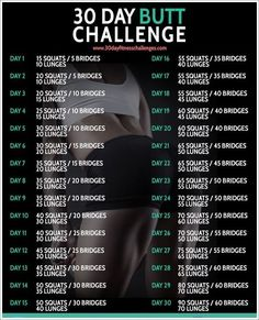 30-Day butt and abs workout challenge you can do from home   #weightloss…