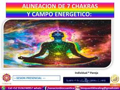 ALINEACION DE 7 CHAKRAS Y CAMPO DE ENERGIA  Se  mide tu campo energético y 7 chakras  con varillas de radiestesia para detectar : fugas y bloqueos.  Se armonizan tus 7 chakras con cuenco tibetano, diapasones y visualización guiada  Se revisa tu campo energético ( aura); alineación,  reconstrucción y cierre de fugas de tu campo energético  de protección  indispensable reconstruir para  subir tu vibración a la 5d y protegerte de: fugas energéticas, dolor físico, futuras enfermedades