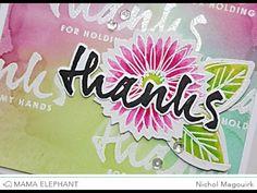 Mama Elephant Stamp Highlight | Heartfelt Wishes - YouTube-CRACKED PISTACHIO,PICKED RASPBERRY, TWISTED CITRON