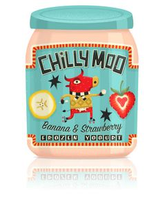 Chilly Moo Frozen Yogurt   Packaging of the World: Creative Package Design Archive and Gallery