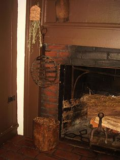 View of fireplace from the Mill House,Center Ossipee,NH, c1780