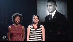 SNL sings 'To Sir With Love' in honor of Barack Obama