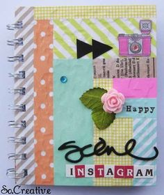 Instagram Minibook - by So.Creative at Studio Calico Washi Workshop (tons of washi tape, lots of techniques)