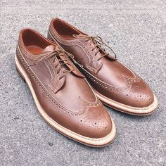 aldenofcarmel Natural Chromexcel Long Wing Tip, Waterloc Sole. Available at BRICK + MORTAR, Seattle. 206-588-2770 2016/05/14 14:59:19