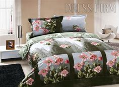 ; New Style Tops, Bed Covers, Comforter Sets, Flower Prints, Bed Sheets, Pink Flowers, Comforters, 3 D, Blanket