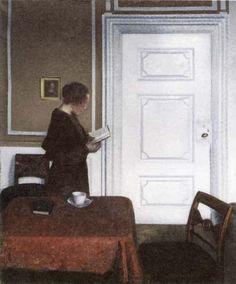 Vilhelm Hammershøi - Lesende Frau, Strandgade