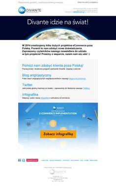 Newsletter Divante - promocja infografiki oraz informacja o zdobywaniu rynków zagranicznych / #ecommerce #e-commerce #newsletter #emailmarketing