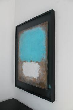 guido lötscher_bleu flottant I_mixed media on paper_object frame