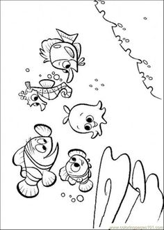 nemo coloring pages to print | free printable coloring page Nemos Friends (Cartoons > Finding Nemo)