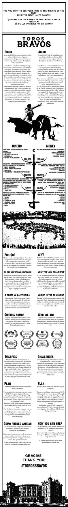 Toros Bravos is a feature-length documentary investigating the world of bullfighting.