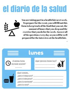 Students keep a log of their health habits during a week and then have class discussions about their habits