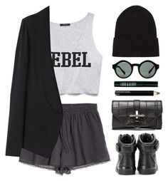 """""""Rebel"""" by endimanche ❤ liked on Polyvore featuring Calypso St. Barth, Forever 21, Vanessa Bruno, Givenchy, AllSaints, Quay, Isadora and Lord & Berry"""