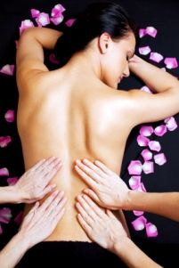 A #FourHands #massage is a unique massage modality that has two massage therapists working on one body; they mirror each other's movements to create one fluid motion.