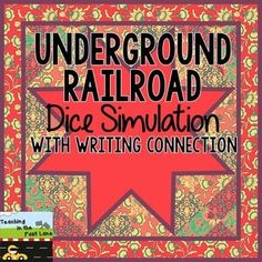 """$ This dice simulation is a great way to get students up and moving as well as """"experience"""" what it would have been like for a slave trying to gain their freedom through the Underground Railroad."""