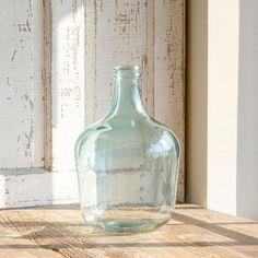 Blue Glass Vase, Blue Glass Bottles, Glass Jug, Bottle Vase, Large Glass Vase, Wine Bottles, Milk Glass, Antique Farmhouse, Or Antique