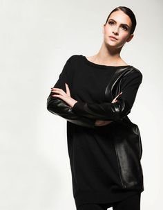 This with detail is just tough enough! Fall 14, Knitwear, Tunic, Detail, Collection, Black, Dresses, Style, Fashion
