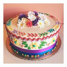 Guatemalan fiesta cake by 2tarts Bakery. www.2tarts.com