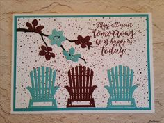 Pinterest Inspired Card from Lolly & Sand CASED using Stampin Up Colorful Seasons stamps, dies & inks.