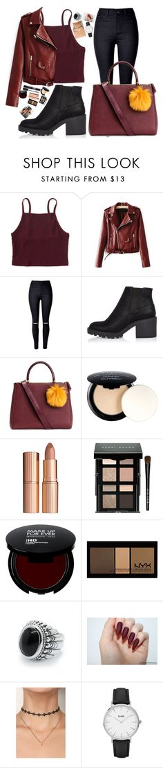 """Burgundy 💋"" by danifashionblog ❤ liked on Polyvore featuring Aéropostale, River Island, Christian Dior, NYX, Charlotte Tilbury, Bobbi Brown Cosmetics and CLUSE"