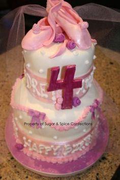 Ballet cake idea for Kersha's 4th birthday maybe
