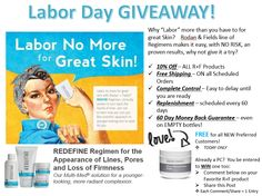 Ready to get your glow back and reduce the appearance of Wrinkle, with NO LABOR!!  Rodan and Fields makes it SUPER EASY!    Today ONLY, I'm giving away a FREE MICRO-DERM PASTE ($78 value) to all NEW Preferred Customers!  For my Preferred Customers, you can WIN one too!  Simply Comment below with what your favorite R+F Product is & Why, or Share this post with your friends.  Each Share/Comment = 1 entry.  Winner will be announced tomorrow AM!