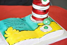 Dr. Seuss party -- OK, which of my friends can make a cake like this for me????