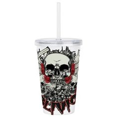 Future Imaging Designs: Skulls Cry out the Obl Acrylic Double-wall Tumbler: Display the skulls of Oblivion surrounded by the deceptive look of wings and roses but do you know what the alien test really warns? Cry Out, Tumbler With Straw, Plastic Tumblers, Skulls, Mugs, Future, Wall, Gifts, Plastic Cups