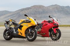 Ducati 1199 Panigale and EBR 1190RX group static shot