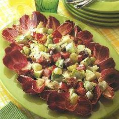 Foto recept: Appel-dadelsalade Allrecipes, Sprouts, Potato Salad, Side Dishes, Potatoes, Vegetables, Ethnic Recipes, Salads, Potato