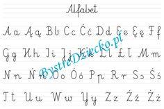 Abecadło, alfabet - nauka pisania dla dzieci w liniaturze Math Equations, Montessori, Google, Cuba