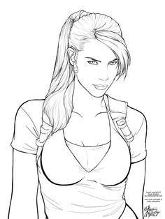 trlc lineart for coloring by horus goddess on deviantart lara croftadult coloringcoloring pagesline - Lara Croft Coloring Pages