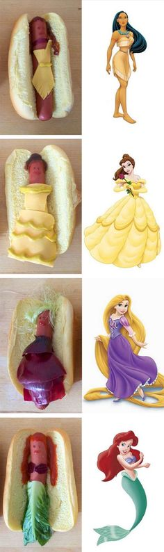 Princess party hotdogs