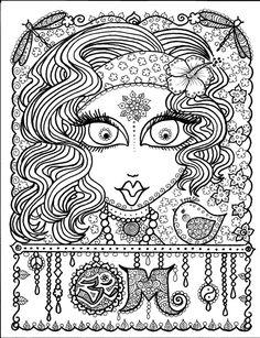 Instant Download OM Art for you to COLOR por ChubbyMermaid en Etsy