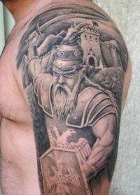 Skica Slavic tatoo na svojo podlaket za moške