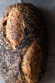 Seeded Sourdough Bread - flax, toasted dark sesame, fennel and raw sunflower seeds I The Perfect Loaf
