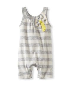 51% OFF Bonnie Baby Playsuit with Knitted Bow (Grey)